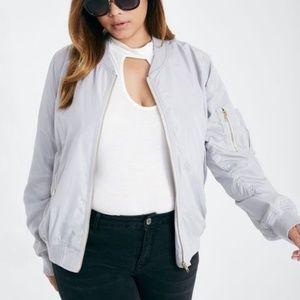 Charlotte Russe Satin Bomber Jacket